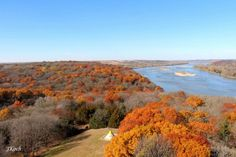 13. A beautiful autumn view from the observation tower at Platte River State Park.