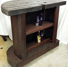 SOLD Jack Daniels home bar custom hand built rustic whiskey, pub, man cave portable Jack Daniels, Woodworking Jig Plans, Woodworking Machinery, Youtube Woodworking, Pallet Bed Frames, Wood Spool, Home Bar Decor, Beautiful Houses Interior, Diy Pallet Furniture