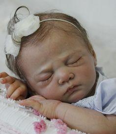 Reborn baby girl Caspar by Christa Gotzen Reborn by Doll Artist Mary DiStefano
