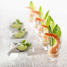 1000 images about christmas entrees on pinterest prawn for Mini prawn cocktail canape
