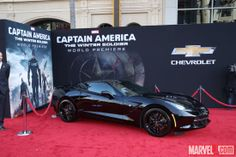 A Chevrolet on the red carpet at Marvel's Captain America: The Winter Soldier premiere