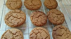 Crispy chewy ginger brownie biscuits