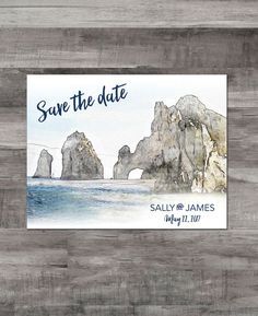 Watercolor Save the Date Invites