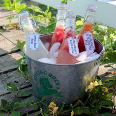 parts soda water 2 sliced strawberries Lemon Basil Soda 1 part lemon ...