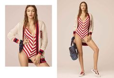 Every Look From Tommy Hilfiger x Gigi Hadid Spring 2017 Collection - theFashionSpot Eleanor Calder, Gigi Tommy Hilfiger, Gigi Hadid Outfits, Festival Girls, Camisa Polo, Cotton Cardigan, Rocker Chic, Famous Brands, Spring Collection