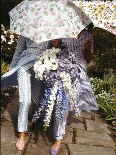 Garden gingham photographed by Grant Matthews, November 1992.