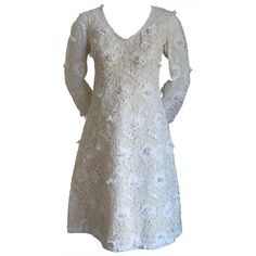 For Sale on - Breath taking off white Venice lace dress from Yves Saint Laurent dating to the All the details and hand finishing you would find in a haute couture Yves Saint Laurent, Day Dresses, Bridal Dresses, Champagne Lace Dresses, Christian Dior, Cool Outfits, Fashion Outfits, Vintage Lace, Dress Vintage