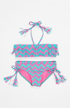 Billabong Girls Swimsuit - Check out this other Must-Have Girls Bathing Suits for Summer! Summer Bathing Suits, Cute Bathing Suits, Pretty Swimsuits, Two Piece Swimsuits, Justice Swimsuits, Baby Swimwear, Bikini Swimwear, Girls Swimming, Swimming Suits