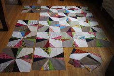 Michelle from CityHouse Studio's fun improv quilt in progress