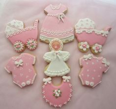 Baby Sugar Cookies with Royal Icing.