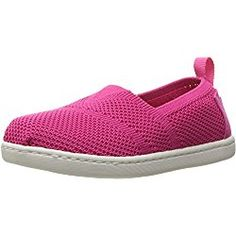 Toms Girls FUCHSIA ALPARGATA slip on shoes/flat, Pink, 3 M US Infant