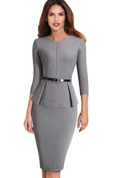 7efeaa72c35 ROSE IN THE BOX Womens Business Casual Clothes Bodycon Pencil Office Work  Dresses Rayon Polyester