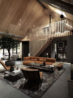 in LOVE with these lofts! in LOVE with these lofts! in LIEBE mit diesen Lofts! # dunkleinnenräume in LIEBE mit diesen Lofts! Scandinavian House, Swedish House, Scandinavian Apartment, Loft Interiors, Dark Interiors, Beautiful Interiors, Home Interior Design, Interior Architecture, Chalet Interior
