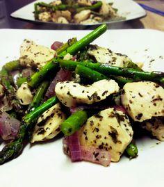 Chicken and Asparagus Skillet Dinner