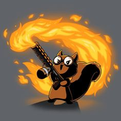 Pyromaniac Squirrel T-Shirt TeeTurtle