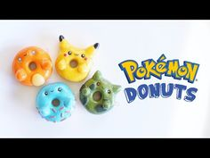 Pokémon Donuts 4 in 1 polymer clay tutorial