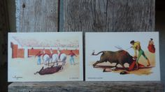 Sevilla Bullfighting vintage postcard set