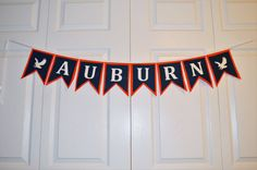 www.withowlourlove.etsy.com War Eagle Auburn College Football Felt Banner by WithOwlOurLove