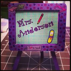 Name Plate Easel #Create2Educate #Sweepstakes. Enter your own project for a chance to win a $50 gift card to Michaels. Learn more: https://www.facebook.com/Michaels?sk=app_584051421645085
