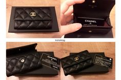 Chanel Caviar Card Holder from love. I got no idea what to give him for Valentine's Day tho. Hahaha I'm bad at this. Lol