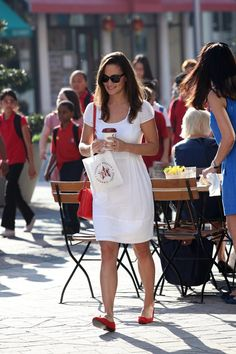 Pin for Later: Pippa Middleton Just Got Engaged, but We're Already Predicting Her Wedding Dress Will Have This 1 Detail  Opting for a white dress while out in London, way back in 2011.