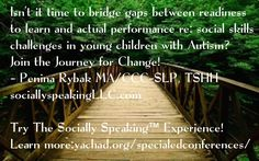"The Socially Speaking™ Experience is coming to YACHAD in NYC Feb 2017! Penina Rybak MA/CCC-SLP, TSHH CEO Socially Speaking LLC Author: ""Autism Intervention in the iEra"" Website: www.SociallySpeakingLLC.com"
