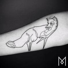 #blackworkerssubmission #blacktattooart #onlyblackart #inkstinctsubmission #equilattera #tattrx #darkartists #tattooistartmagazine #fox #moganji #singleline One Line Tattoo, Single Line Tattoo, Mole Tattoo, I Tattoo, Body Tattoo Design, Tattoo Designs, Tattoo Ideas, Black Tattoo Art, Black Tattoos