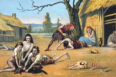 This is a picture of people in the late middle ages suffering from famine. During that time, there was not enough land to cultivate food so people were suffering from famine. I chose this picture so the viewer can see one of the many problems there were in the Late Middle ages.