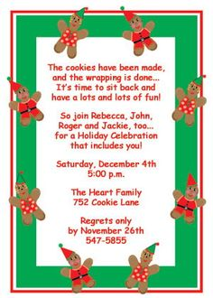 Magnificent Cookie Exchange Christmas Party Invitations And Christmas Parties Easy Diy Christmas Decorations Tissureus