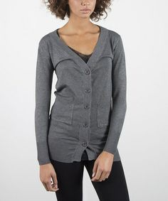 Charcoal Comfortable Cardigan #zulily #ad *perfect for spring