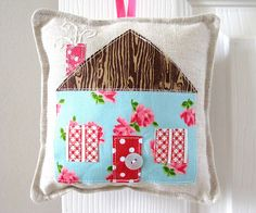 #sew this very cute #door hangerer or I am thinking making it a #pin cushion