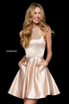 Sherri Hill at the Prom Store in St. Louis Missouri Sherri Hill 52232 The Prom Store Sherri Hill Prom Dresses Short, Hoco Dresses, Satin Dresses, Dance Dresses, Pretty Dresses, Homecoming Dresses, Formal Dresses, Engagement Dresses, Prom Dress Shopping
