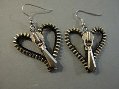 Heart Zipper earrings | JewelryLessons.com