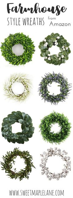 Farmhouse style wreaths from Amazon