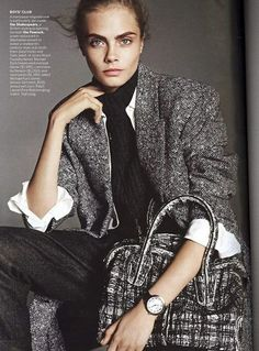 Menswear-inspired fashion featured in the October issue of Vogue.