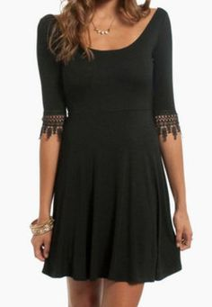 Crochet and Flare Dress from tobi.com