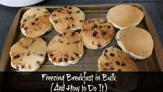 Batch cooking and freezing breakfast is a great way to make sure you have something to eat every morning. See how this family does it! www.nogettingoffthistrain.com