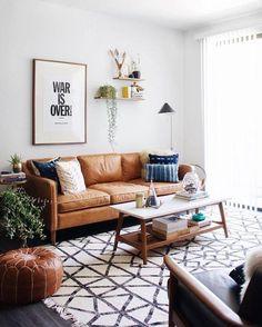 Living Room Designs Decor Ideas Loft Apartments Mid Century Design Inspiration Lighting