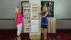 "TRIN!  Hampton Art Jinger Adams Craft Armoire Latest & Greatest Summer 2013 by Scrapbook Expo. The new Craft Armoire from Hampton Art is a ""must have"" for any crafter!  Watch Jinger Adams and Kristy Day demonstrate all the great features of this over-the-door craft organizer."