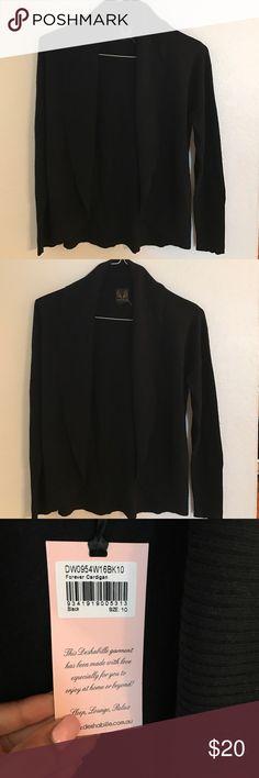 Girls cardigan Black open front cardigan sweater deshabille Shirts & Tops Sweaters