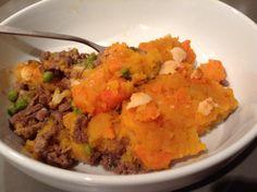 Cottage pie with carrot and sweet potato mash. #glutenfree #dairyfree #sugarfree #yeastfree