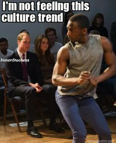 November: Watched a dancer twerk in front of her and Prince William's face at Only Connect