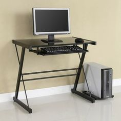 @Overstock - Contemporary desk offers a sleek modern design  Furniture is crafted with durable steel and thick tempered safety glass  Computer desk is perfect for your home officehttp://www.overstock.com/Home-Garden/Black-Solo-Computer-Desk/3458775/product.html?CID=214117 $85.99