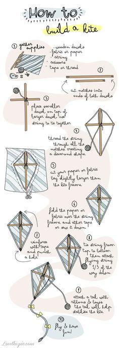 DIY building a kite, una buona idea per una giornata di sole come questa. Let's play!