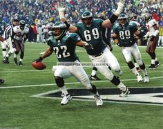 Duce Staley Philadelphia Eagles Touchdown Photo vs Tampa Bay NFC Championship | eBay