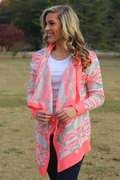 Lavish Boutique  - You're Not Dreaming Cardigan: Coral, $46.00 (http://lavishboutique.com/youre-not-dreaming-cardigan-coral/)