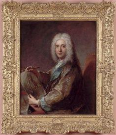 François de Troy, 'Portrait de Jean de Julienne' (directeur des ateliers de teinturier sur la Bièvre à Paris, collectionneur, mécène et protecteur de Jean-Antoine Watteau).
