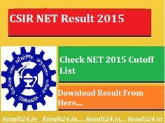 Students who were appeared in CSIR NET 2015 June Exam they will check CSIR NET Result 2015 in End of September at website csirhdg.res.in.