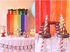 Clare's Rainbow Party :: Featured Parties pool parties, birthday, parti decor, rainbow pool, featur parti, someday parti, rainbow parti, parti idea