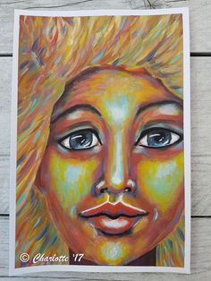Expressive Mixed media girl by Charlotte Brondijk #mixedmedia #expressive #acrylic #artwork